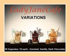 30 capsules NESPRESSO Variazioni, 10 OGNI Caramello, Vaniglia, cioccolato SAPORI