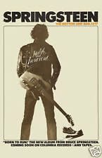 The BOSS: Bruce Springsteen at Bottom Line Club in New York Concert Poster 1975