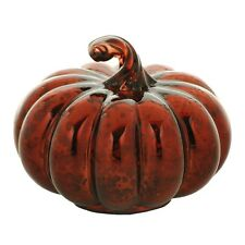 "Orange Mercury Glass PUMPKIN 5"" Short Hollow Figure Statue Fall Sonoma NEW"