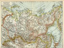 SIBIRIEN Baikalsee  Irkutsk Kamtschatka LANKARTE von 1897 Jakusk Amur Beikal-See