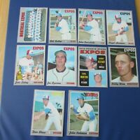MONTREAL EXPOS 1970 COLLECTION (60 items different)  OPC cards AUTO Gene Mauch +