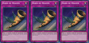 YUGIOH Card 3x Horn of Heaven LCYW-EN090 Secret Rare 1st Edition Playset