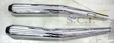 BMW REPLICA SLIP-ON MUFFLER EXHAUST LEFT AND RIGHT CHROME BMW R60 7 1977 - 1978