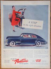 PONTIAC TORPEDO Original 1941 AD Car vintage coche USA Advert Automoviles