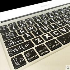 Macbook Air Pro Vinyl Sticker Decal keyboard Creative Style Button Stickers 13''