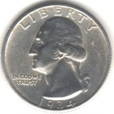 More details for 1934 u.s.a.washington silver quarter dollar | pennies2pounds