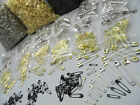Small to Large Size Safety Pins in Silver Gold and Black Size Range 19mm to 57mm