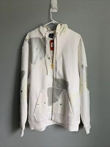 Rare Nike Air Jordan Black Cat Hoodie Sweatshirt - XXL - White - Brand New