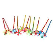 2Pcs Child 22.5Cm Cartoon Windmill Pencil Animal Kids Wooden Windmill Pencil Gf