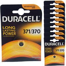 10 x Duracell 370 371 D371 SR69 SR920SW Silver Oxide Watch Batteries
