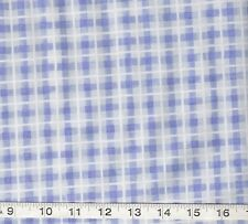 Baby Babies Kids SWEET DREAMS blue plaid quilt Fabric
