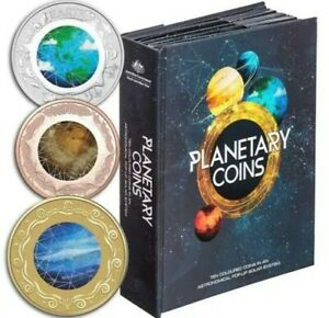 2017 PLANETARY COIN COLLECTION COMPLETE SET IN POP-UP BOOK INCLUDING MARS COIN