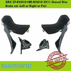 Shimano GRX ST-RX810+BR-RX810 2X11 Gravel Disc Brake set -Left or Right or Pair
