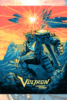 Voltron Legendary Defender by Dan Mumford Screen Print Limited Edition Mondo