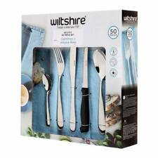 WILTSHIRE 50PC BRONTE STAINLESS CUTLERY SET 50 PIECE W/ STEAK KNIVES