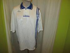 """FC Schalke 04 Adidas UEFA-CUP Sieger Spieler Trikot 1997 """"ohne Sponsor"""" Gr.L TOP"""