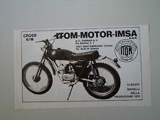 advertising Pubblicità 1975 MOTO ITOM CROSS 50
