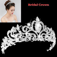 Wedding Bridal Diamante Crown Crystal Headband Princess Hair Comb Tiara Bands