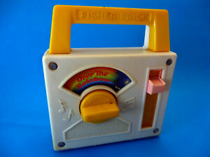 1981 Fisher-Price Toys - Wind Up Radio, plays Over The Rainbow