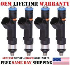 Oem Set Of 4 Bosch Fuel Injectors For Ford Focustransit Connect 20l 0280158179