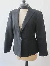 Armani Collezioni Black Cropped Suit Blazer Jacket Women's 12