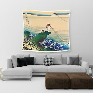 Large Wall Hanging Tapestry Japanese Anime Art Cotton Print Art Bedspread Throw