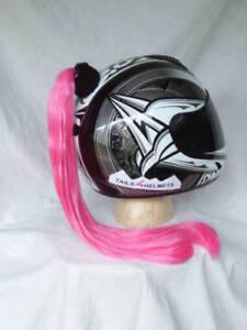 """PINK  Helmet Ponytail..Motorcycle, Bike,.Helmet Hair  24"""" each  PINK  (2-3 Days)"""