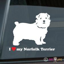 I Love My Norfolk Terrier Sticker Die Cut Vinyl - v2