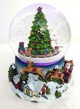 Palla di Neve 20 cm Carillon meccanica, luci led multicolor, musiche natalizie