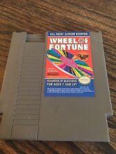 Wheel Of Fortune Junior Edition Original Nintendo NES Cart NE4