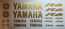 Yamaha R6 in Gold Motorsport Aufkleber Racing Set in Gold für Motorrad oder Auto