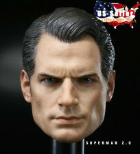 1/6 Henry Cavill Superman Head Sculpt 2.0 Clark Kent For Phicen Hot Toys ❶USA❶