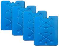 4 Stück Ultraflache XXL Kühlakkus je 800g   Kühlelemente Kühlpads Kühlboxen