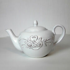 Clayre & Eef Teekanne mit Herz und Rosen Relief 1 Liter