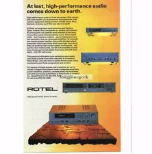 1987 Rotel Receiver CD Player Tuner etc. Components Stereo Hi-Fi Vtg Print Ad