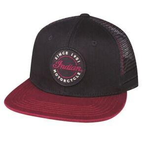 Indian Motorcycle Genuine Apparel - Flatbill Script Logo Trucker Hat