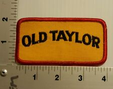 1980's OLD TAYLOR Bourbon Whiskey VINTAGE EMBROIDERED PATCH