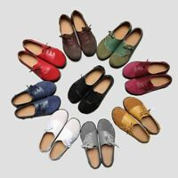 Women's Ladies Casual Suede Flats Loafers Leather Office Comfort Pumps Shoes