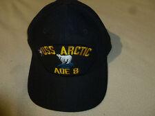 Vintage Military Navy Hat Cap Snap Back Uss Arctic Aoe 8 Combat Supply Ship Usa