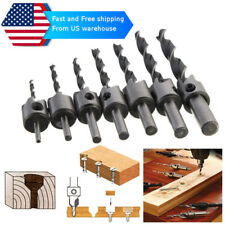 7pcs HSS Countersink Drill Bit Set For Wood From USA Warehouse