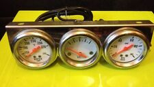 🇬 🇧 Classic cromato triplo Gauge Kit Acqua Pressione Olio Volt Mount Auto Kit Presa
