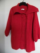 Women's  Christopher & Banks Red   Cardigan  Sweater  Sz  M