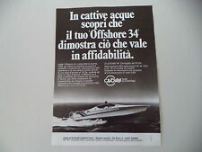 advertising Pubblicità 1979 CIGALA E BERTINETTI OFF SHORE OFFSHORE 34