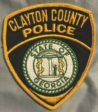 """vintage """"CLAYTON COUNTY POLICE"""" PATCH ga GEORGIA LAW ENFORCEMENT OFFICER state"""