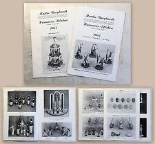 Werbeprospekt Burghardt Hannover Kunsthandwerk Ostern Weihnachten Figuren 1963