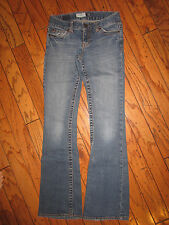 AEROPOSTALE HAILEY JEANS SIZE 0 SKINNY SLIM FLARE BOOT CUT LOW RISE