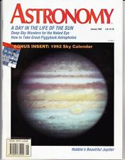 Astronomy Magazine January 1992, Orion, Earth's Atmosphere, Day on the Sun
