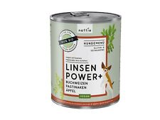 naftie Bio Linsen Power+ veganes Hundefutter Nassfutter Menü, 800g Dose