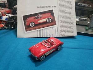 Franklin Mint The Classic Cars Of The Fifties 1957 Red Corvette 1:43 NICE CAR