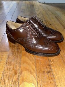 Vtg Cole Haan Werner Shoes Hand Made Italy Full Wingtip Brogues 8D EUC RARE